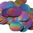 30mm ROUND SEQUIN PAILLETTES ~   BLACK IRIS RAINBOW Shiny ~  Disc ~ Made in USA