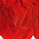 """Red City Lights Reflective Metallic Navette Leaf 1.5"""" Couture Sequin Paillettes"""