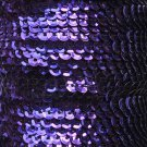 Deep Purple Metallic 5mm cup Sequin Trim Flat Stitched Strung by the yard 15'