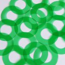 "Sequin 1.5"" Symetrical Donut Vinyl Go Go Trans Green. Made in USA"