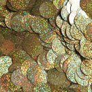 20mm Sequins Center Hole Gold Hologram Glitter Sparkle Metallic. Made in USA