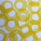 "Circle Loop Vinyl Shape 1.5"" Yellow Go Go Transparent"