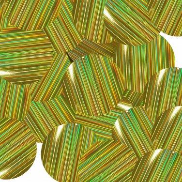 "Gold City Lights Reflective Metallic Sequins Round 1.5"" Large Couture Paillettes"