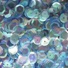 8mm Cup SEQUIN FACET Loose PAILLETTES~ Light SAPPHIRE BLUE Rainbow Iris Crystal