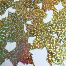 "Sequin Maple Leaf 1.25"" Gold Hologram Glitter Sparkle Metallic. Made in USA"