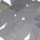 "Sequin Long Diamond 1.75"" Blue Silver Pinstripe Metallic Couture Paillettes"