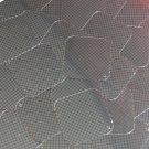 "Sequin Square Diamond 1.5"" Black Gold Grid Check Squares Print Metallic"