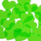 Heart Vinyl Shape 35mm Green Go Go Fluorescent Edge Glow