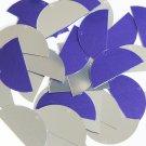 """Sequin Half Round Semi Circle 1.5"""" Purple Silver Metallic Couture Paillettes. Ma"""