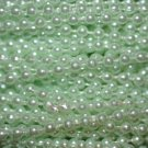 Mint Green Pearl Beads 2.5mm Molded on Thread Fused to string 120 inches (10')