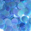 20mm Sequins Center Hole Sapphire Blue Crystal Iris Rainbow Iridescent. Made in