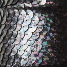 Galactic Black Prism Multi Reflective Sequin Trim 10mm flat strung. Made in USA.