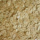 6mm Flat Round Loose SEQUINS PAILLETTE ~ WOOD GRAIN * BIRCH * ~  Made in USA