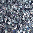 5mm Cup Sequins Hematite Blue Gray City Lights Metallic Reflective. Made in USA