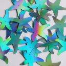 "Starfish Sequin Center Hole 1.5"" Aqua Blue Lazersheen Reflective Paillettes"