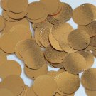 Round Sequin 24mm Gold Metallic Embossed Texture Loose Couture Paillettes