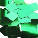"Square Diamond Sequin 1.5"" Green Metallic Loose Couture Paillettes"