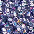 8mm Cup Sequins Lavender Lazersheen Rainbow Reflective Metallic. Made in USA