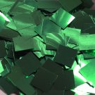 25mm Square Sequins Green Metallic Loose Paillettes