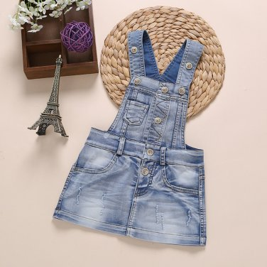 Sundress Baby Girl Dress Summer Denim Dresses Girls Overalls Kids Jeans Bebe Infant Clothes