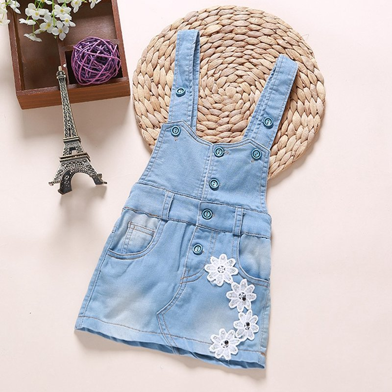 Baby Girl  Summer Denim Dresses Girls Overalls Kids Jeans Bebe Infant Clothes Baby