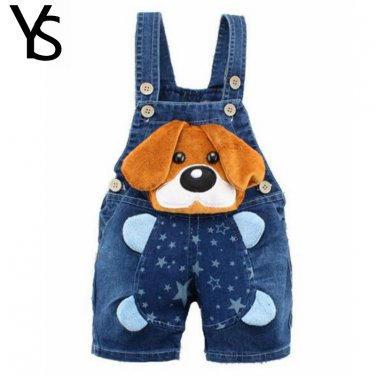 Boys Girls Jeans Overalls Shorts Toddler Kids Denim Rompers For Summer Bib Pants Clothes