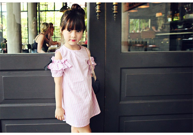 Baby Girl Clothes Summer Dress 2017 Fashion Girls Cotton Striped Dresses Children Clothe