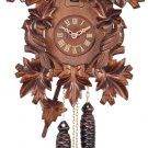 One Day Cuckoo Clock with Seven Hand-carved Leaves & Three Birds - Model # 33-16
