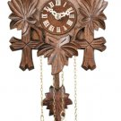 One Day Hand-Carved Cuckoo Clock with Five Maple Leaves & One Bird - Model # 11-09