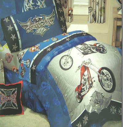 Silver Star Choppers Full Comforter