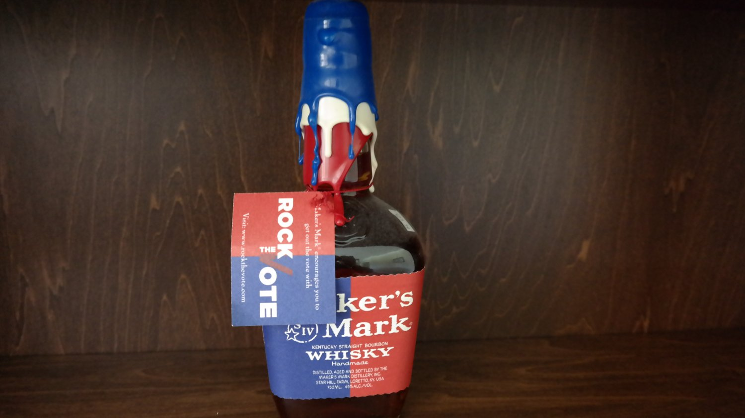 Makers Mark Rock the Vote Election Limited Edition Bottle