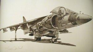 AV-8 Harrier Limited Edition print #357 of 2000