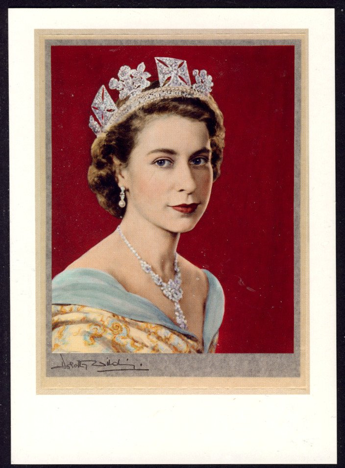 Diamond Jubilee Post & Go Stamp used with WINDSOR FDI Postmark on NPG Postcard of Queen