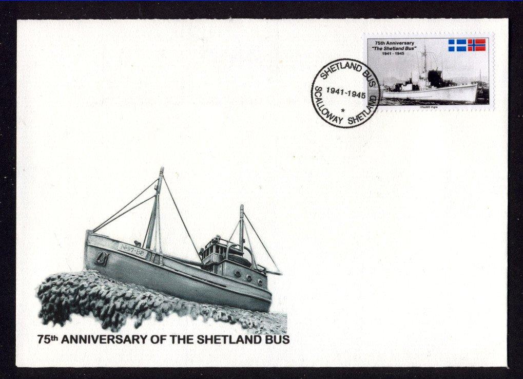 Secret WW2 Shetland Island Operations to German Occupied Norway Cinderella Stamp Cover
