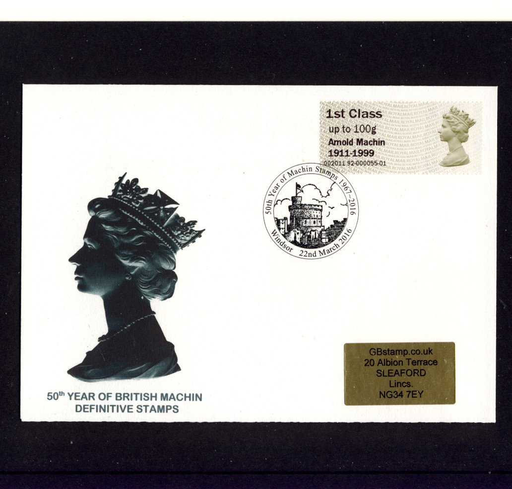 Full Set of Post & Go 2011 Arnold Machin Centenary Stamps on Matching Covers and Special Postmark