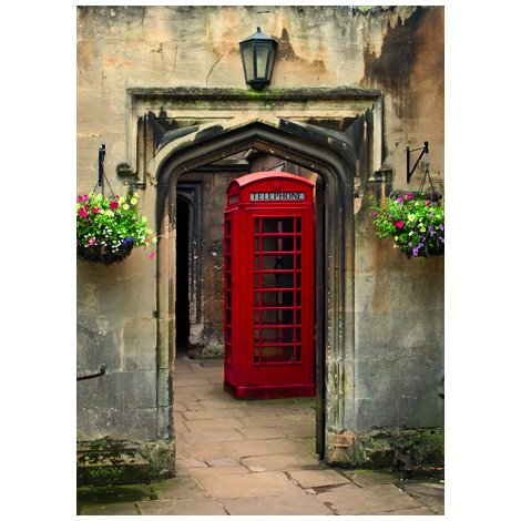 Red Phone Box Postcard Sent to You in the Mail Using a Pictorial GB Post and Go Stamp