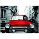 Red Mini Car Postcard Sent to You in the Mail Using a Pictorial GB Post and Go Stamp