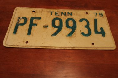 Vintage 1979 Tennessee Automobile License Plate
