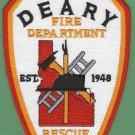 DEARY IDAHO FIRE RESCUE PATCH