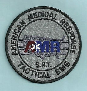 AMR AMERICAN MEDICAL RESPONSE TACTICAL EMS SRT PATCH GRAY