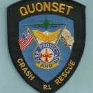 QUONSET AIR NATIONAL GUARD BASE RHODE ISLAND FIRE RESCUE PATCH