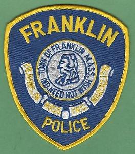 FRANKLIN MASSACHUSETTS POLICE PATCH