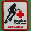 AMERICAN RED CROSS DIVING RESCUE PATCH