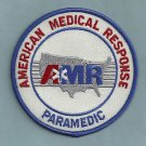 AMR AMERICAN MEDICAL RESPONSE PARAMEDIC RESCUE EMS PATCH WHITE