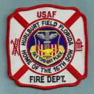 HURLBURT FIELD AIR FORCE BASE FLORIDA FIRE RESCUE PATCH