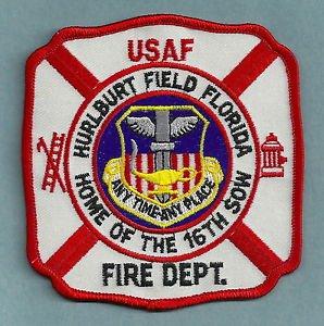 HURLBURT FIELD AIR FORCE BASE FLORIDA FIRE RESCUE PATCH