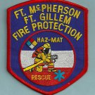 FORT McPHERSON - FORT GILLEM ARMY BASE GEORGIA FIRE RESCUE PATCH