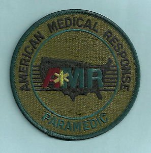 AMR AMERICAN MEDICAL RESPONSE PARAMEDIC EMS RESCUE PATCH GREEN