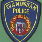 FRAMINGHAM MASSACHUSETTS POLICE PATCH
