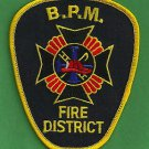 BLOOMINGBURG - PAINT - MARION OHIO (BPM) FIRE RESCUE PATCH